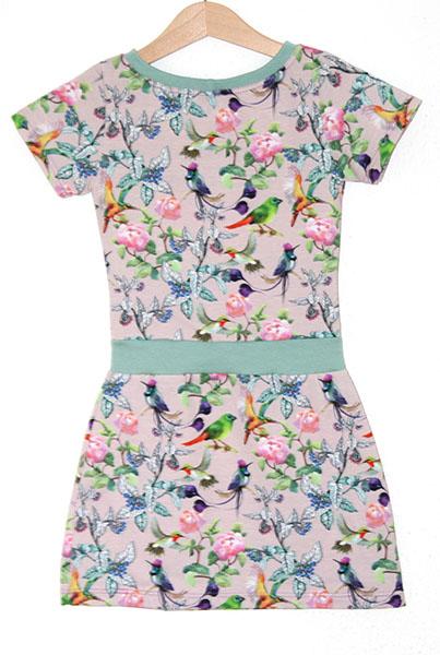 jurk print floral birds