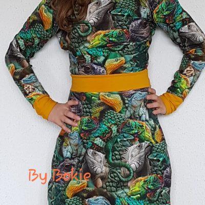 reptielen jurk
