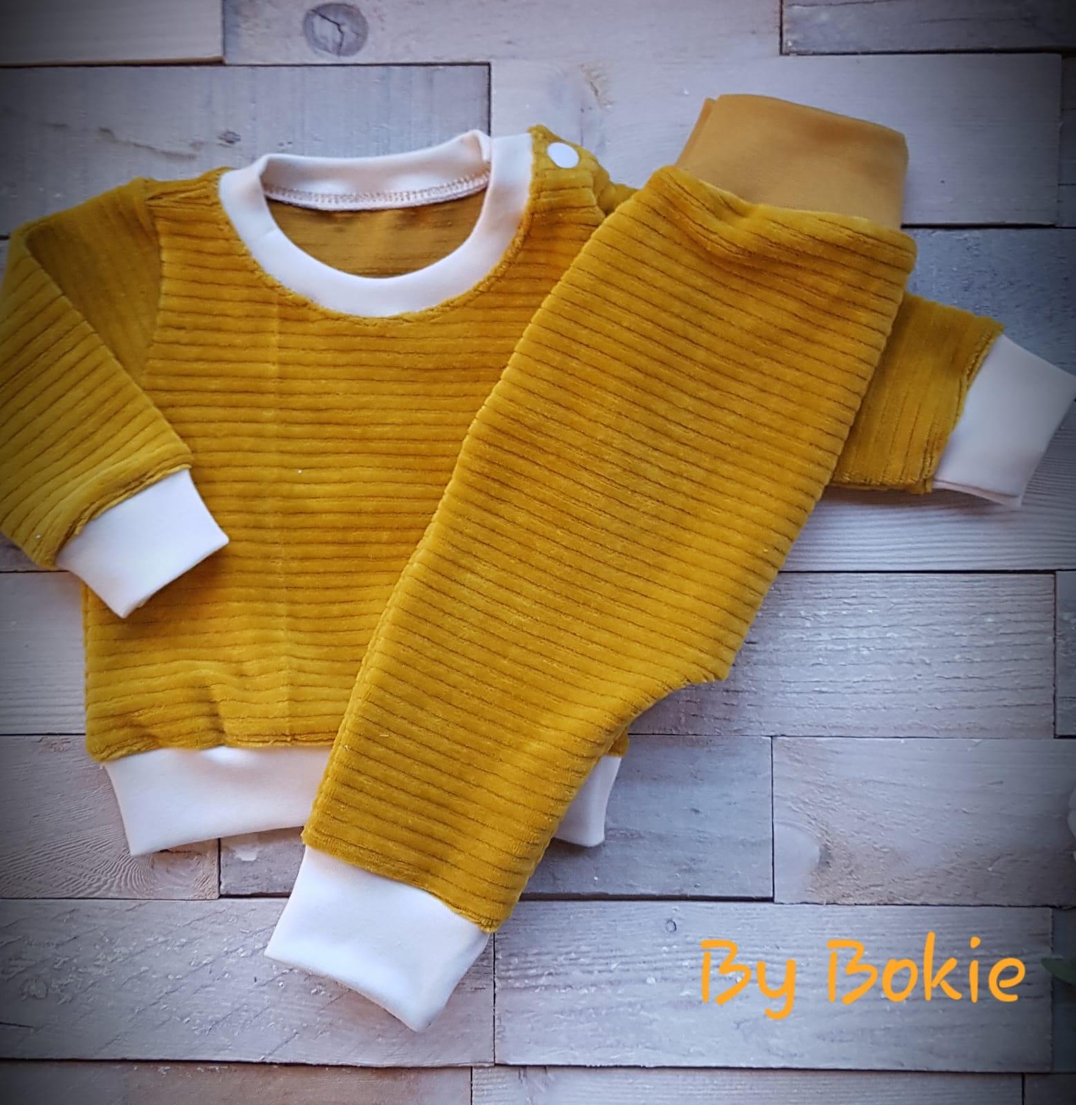 Baby broekje rib mix and match Bokie